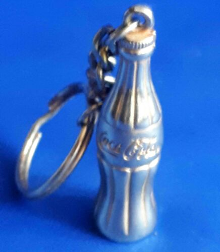 Coca Cola Bottle Cast Metal Vintage Keychain Key Ring Pendant