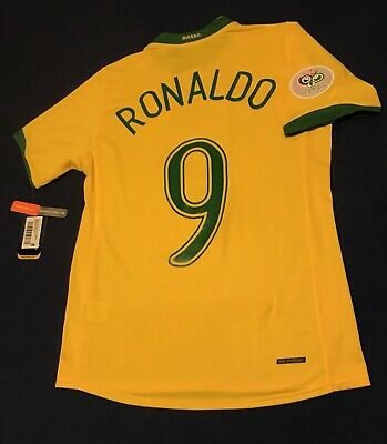 BRAZIL RONALDO SOCCER JERSEY FIFA WORLD CUP GERMANY 2006 BARCELONA REAL MADRID image