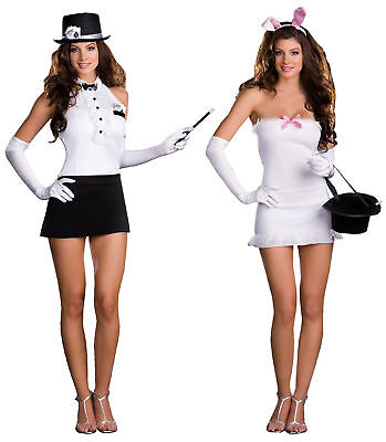 Rabbit In The Hat Trick Adult Women Costume Tuxedo Style Fancy Dress Dream Girl - Rabbit In Hat Costume