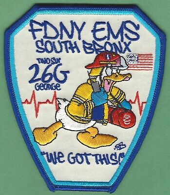 FIRE DEPARTMENT NEW YORK EMS STATION 26-G SOUTH BRONX PATCH - $10.00