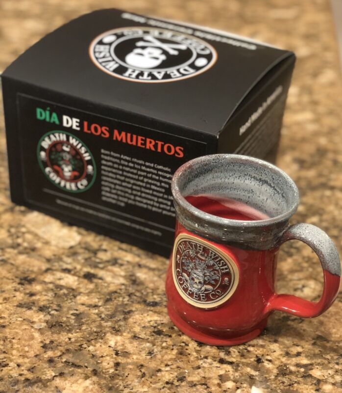 Death Wish Coffee Dia De Los Muertos Ceramic Mug Day The Dead Halloween