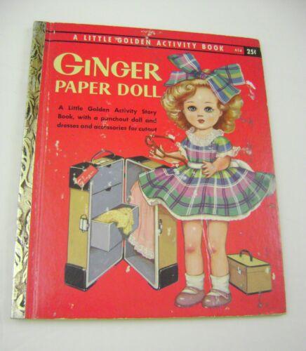 VTG PAPER DOLLS 1957 GINGER LITTLE GOLDEN ACTIVITY BOOK A14 UNCUT w/DOLL!!!!