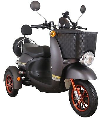 Electric Mobility Scooter BASKET 3 Wheeled 800W NEW FREE Delivery Green Power