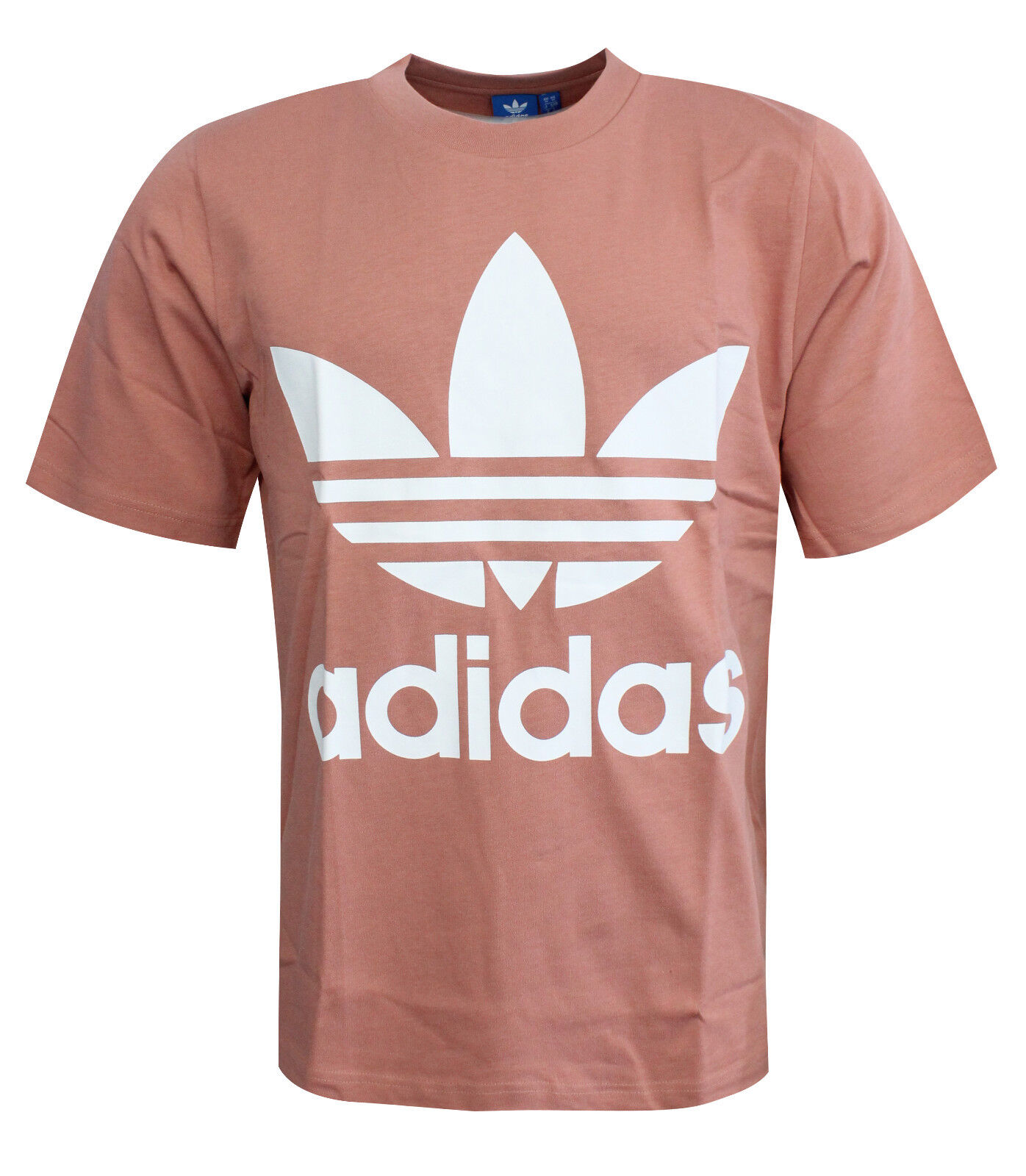 Detalles de Adidas Originals AC Boxy Hombre Grande Camiseta Logo Rosa CD9304 UA129