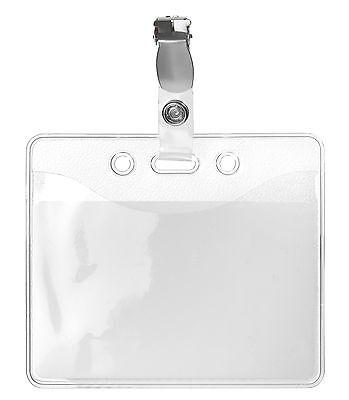 Kartenhalter Ausweishülle Ausweishalter Karte Hülle mit Clip neu hochwertig