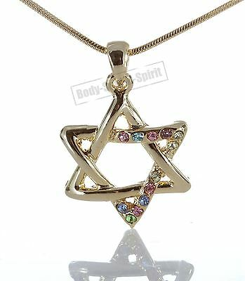 Lucky Sacred Karma Star of David Amulet Jewish Kabbalah soul Necklace Judaica