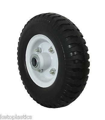 2.50 - 4 /220 x 60 Puncture Proof Sack Truck Jockey Wheel Trolley Cart 12mm BORE