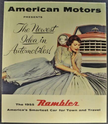 1955 Nash Rambler Brochure Folder Country Club, Wagon AMC Excellent Original 55