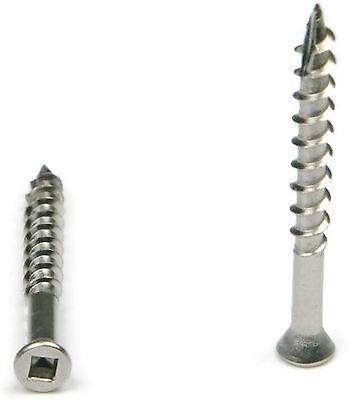 Square Drive Deck Screws Trim Head 305 Stainless Steel  - #7 x 1-5/8
