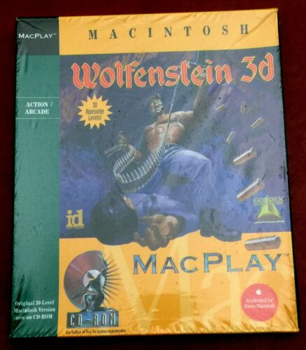 Wolfenstein 3D MacPlay CD-ROM Macintosh NEW FACTORY SEALED RARE