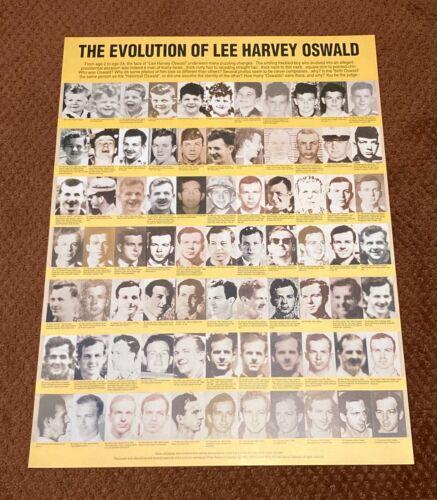 EVOLUTION OF LEE HARVEY OSWALD POSTER PRINT JACK WHITE 1994 JFK ASSASSINATION