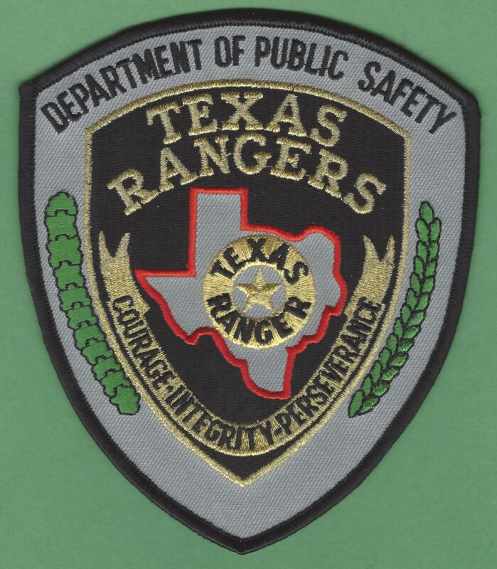 TEXAS RANGERS DEPARTMENT OF PUBLIC SAFETY SHOULDER PATCH