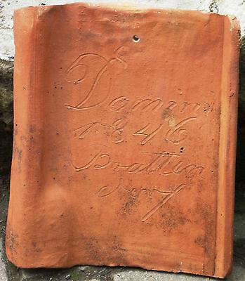 alter musealer Feierabendziegel 1846 Brattendorf