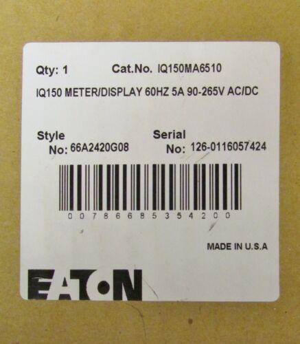 Eaton Iq150ma6510 Iq150 Meter Display 90-265v Ac Dc 66a2420g08
