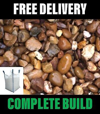 20mm Decorative Gravel Bulk Bag 800kg Min - Landscaping - ideal for Driveways