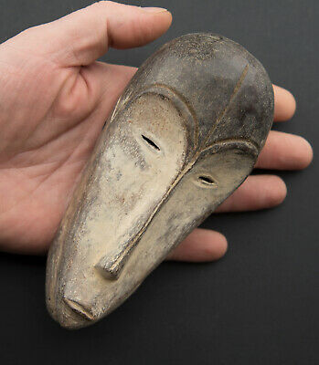 Masquette Fang Ngil Mask Miniature African Gabon Wood 15cm Art First 16815