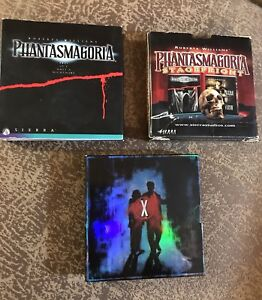 3 PC computer horror/sci-fi games Phantasmagoria & x-files