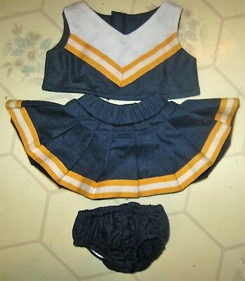 NEW Dog, Doll, Cat or Bear Cheerleader Uniform 3 pc. Outfit Michigan Wolverines