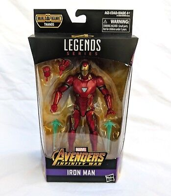 Marvel Legends Avengers Infinity War Iron Man 6  Action Figure Thanos Baf   New