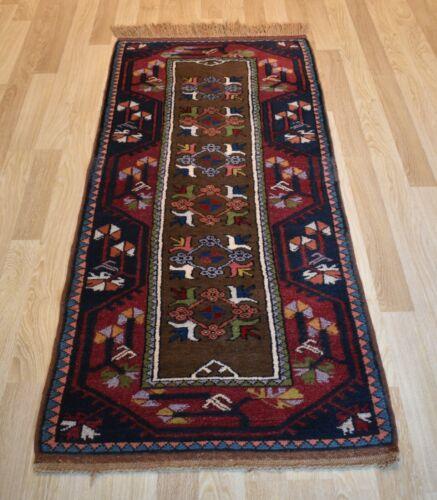 Antique Never Used Caucasian Kazak Handmade Dowry Runner 3Ft x 7Ft Free Shipping