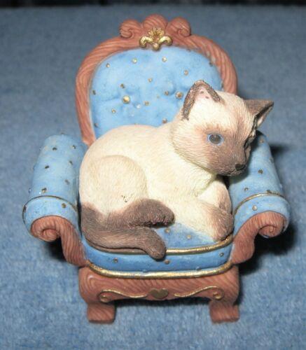Enesco Calico Kittens Lap of Luxury figurine 2000