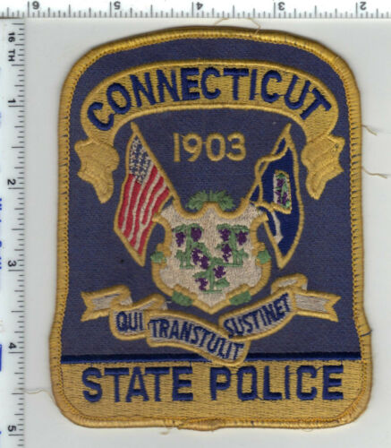 Connecticut State Police Uniform Take-Off Shoulder Patch - from the Early 1980