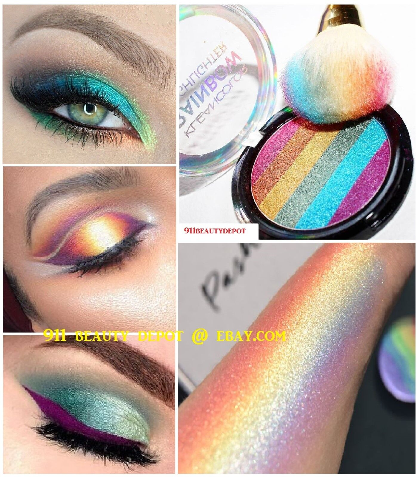 6 Colors Glitter Eyeshadow Eye Shadow Palette & Makeup Cosme
