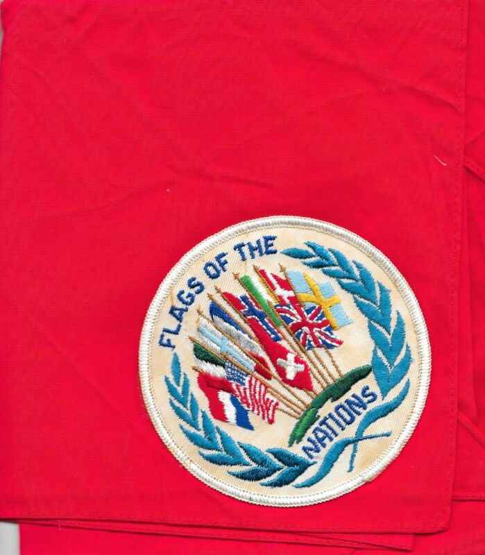 Flags of the Nations United Nations Neckerchief Boy Scouts of America BSA
