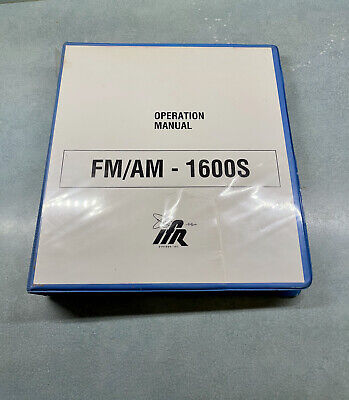 Ifr Fmam 1600s Communications Service Monitor Operation Manual - Used
