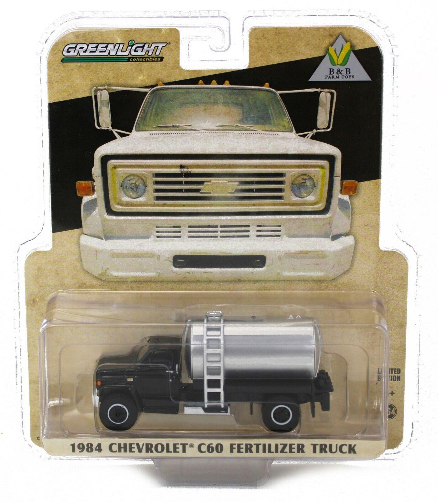 NEW! 1:64 Greenlight 1984 Chevrolet C60 *FERTILIZER TRUCK* BLACK *NIP*