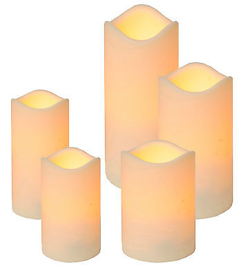 LED Kerze Outdoor flackernde flammenlose Kerzen mit Dämmerungssensor für