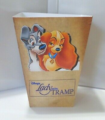 Lady And The Tramp Popcorn Box. Disneyland Cartoons......free Shipping