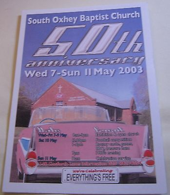 Advertising Event South Oxhey Baptist Church 50th Anniversary - unposted