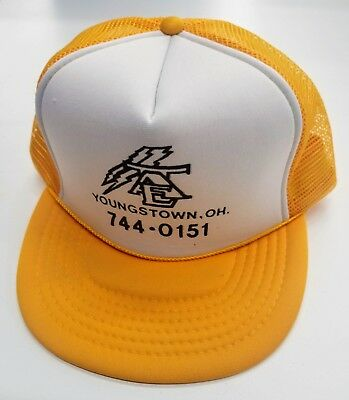 VTG TRI AREA ELECTRIC HAT CAP TRUCKERS MESH YOUNGSTOWN OHIO Ohio Mesh Cap