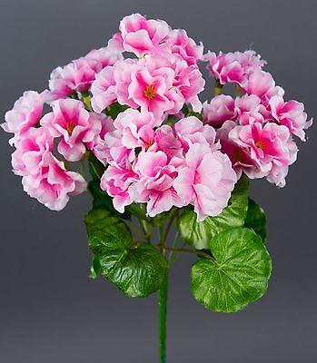 Geranie 26cm rosa -ohne Topf- ZF künstliche Blumen Kunstpflanzen Kunstblumen