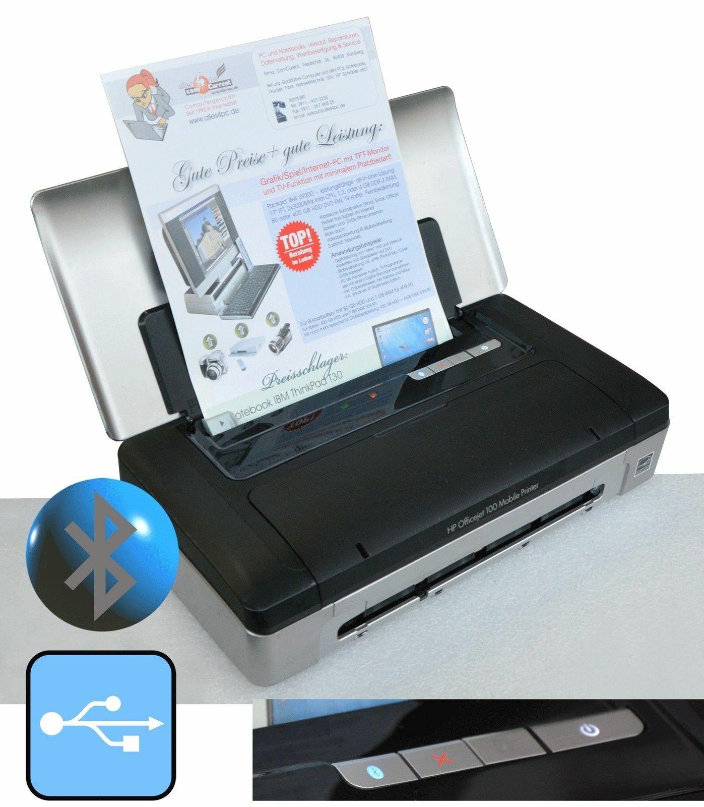 Compact imprimante mobile hp officejet 100 avec usb bluetooth f windows xp 7 8