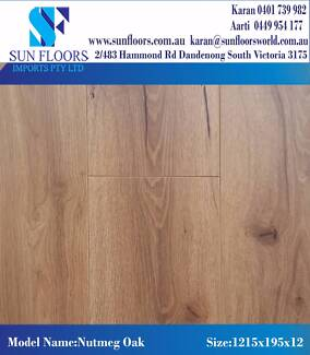 NUTMEG OAK AC4 HDF HIGH QUALITY LAMINATE-SUN FLOORS IMPORTS
