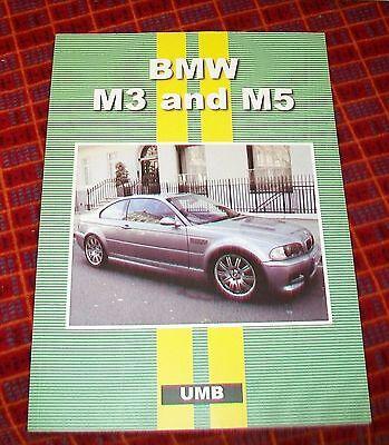BMW M3 and M5 ROAD TEST REPRINT BOOK. 1992-2001 UMB PRESS