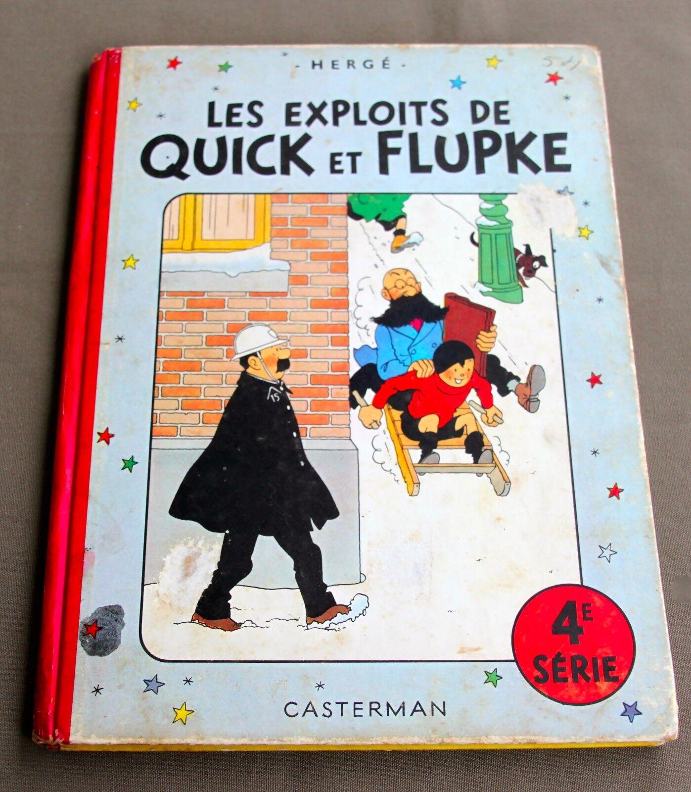 HERGE - LES EXPLOITS DE  QUICK ET  FLUPKE  4E SERIE - 1954 - B10