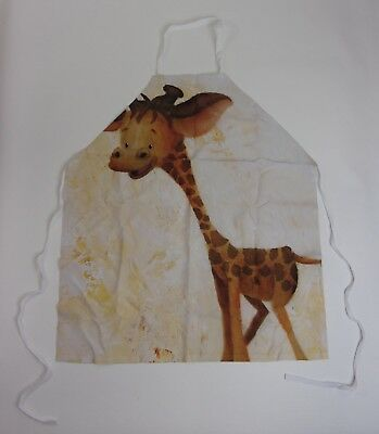 "KESS InHouse Rachel Kokko Georgey The Giraffe"" Brown Tan Artistic Apron NEW"