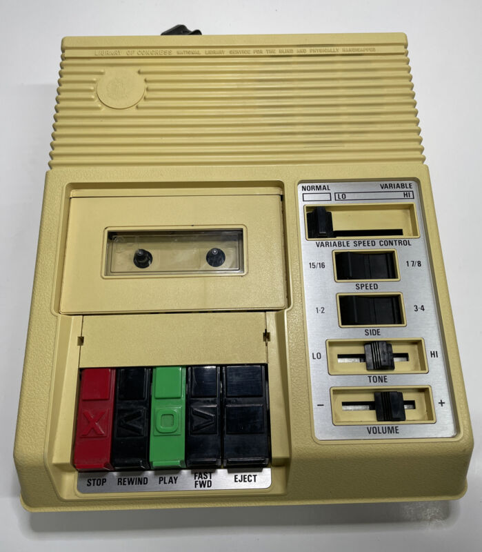 Library Congress For the Blind Handicapped C-1 Cassette Tape Player
