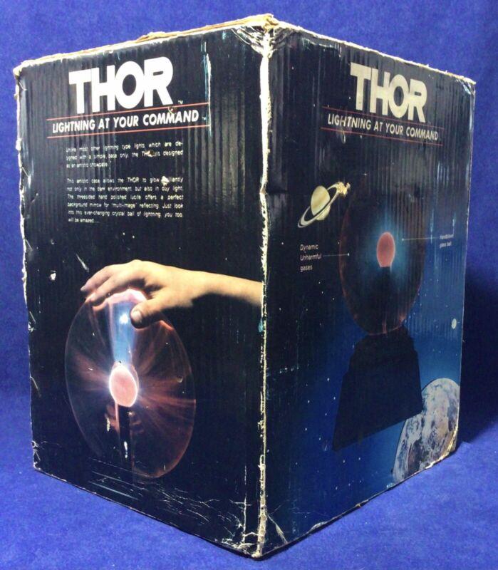 Vintage THOR Plasma Lightning Ball 1980s Working Original Box