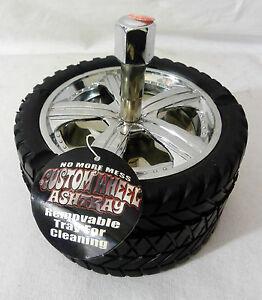 Customised Alloy Wheel Car Tyre Novelty Gift Revolving Ashtray Ash tray