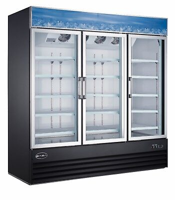 Saba Commercial Merchandiser Refrigerator Display Case 3 Glass Doors