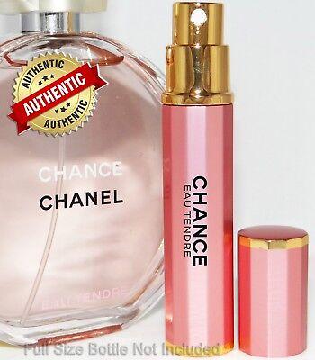 Authentic CHANEL Chance Eau Tendre EDP Perfume Travel Spray 6ml / .20oz