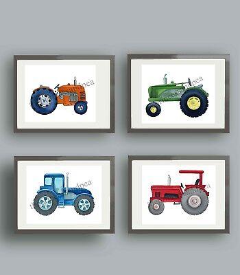 tractor nurseryart prints tractor bedding bedroom wall art decor pictures