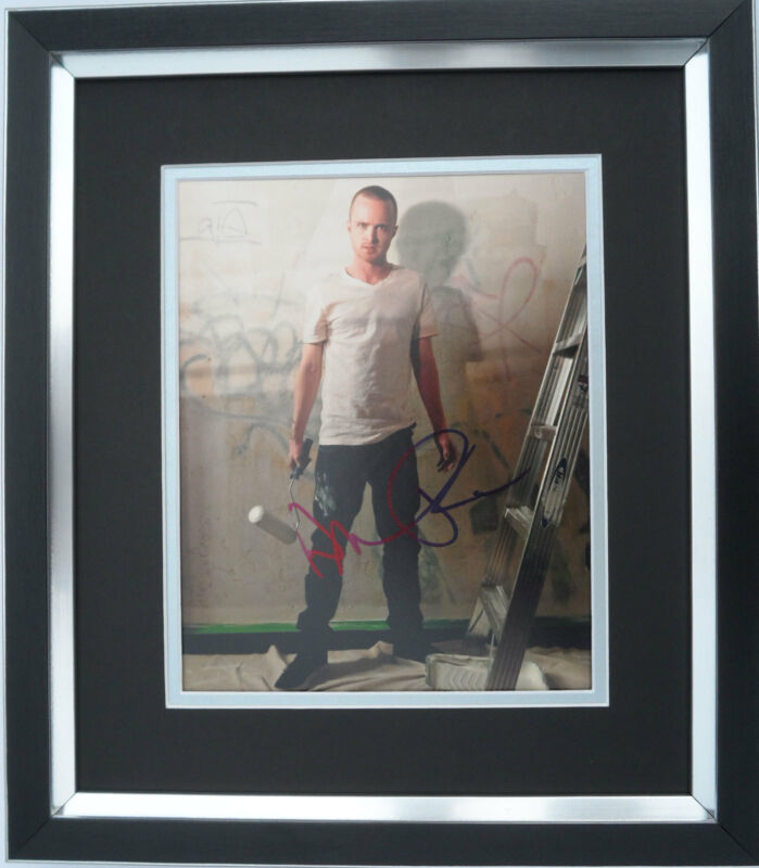 Aaron Paul authentic signed Breaking Bad 10x8 photo FRAMED AFTAL & UACC [12553]