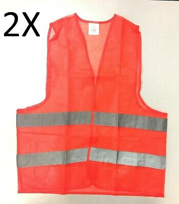 2X Fluorescent Safety Security Visibility Reflective Vest Construction Traffic 2 Traffic Safety Vest