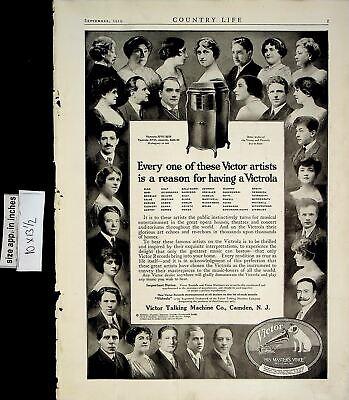 1919 Victrola Victor Talking Machine Recorder Music Vintage Print Ad 6182