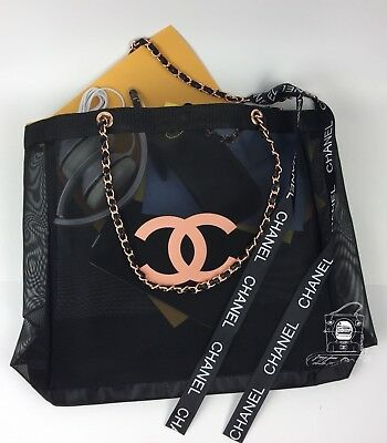 💥CHANEL VIP Gift Mesh Tote With Silver/Gold/Rose gold Hardware💥